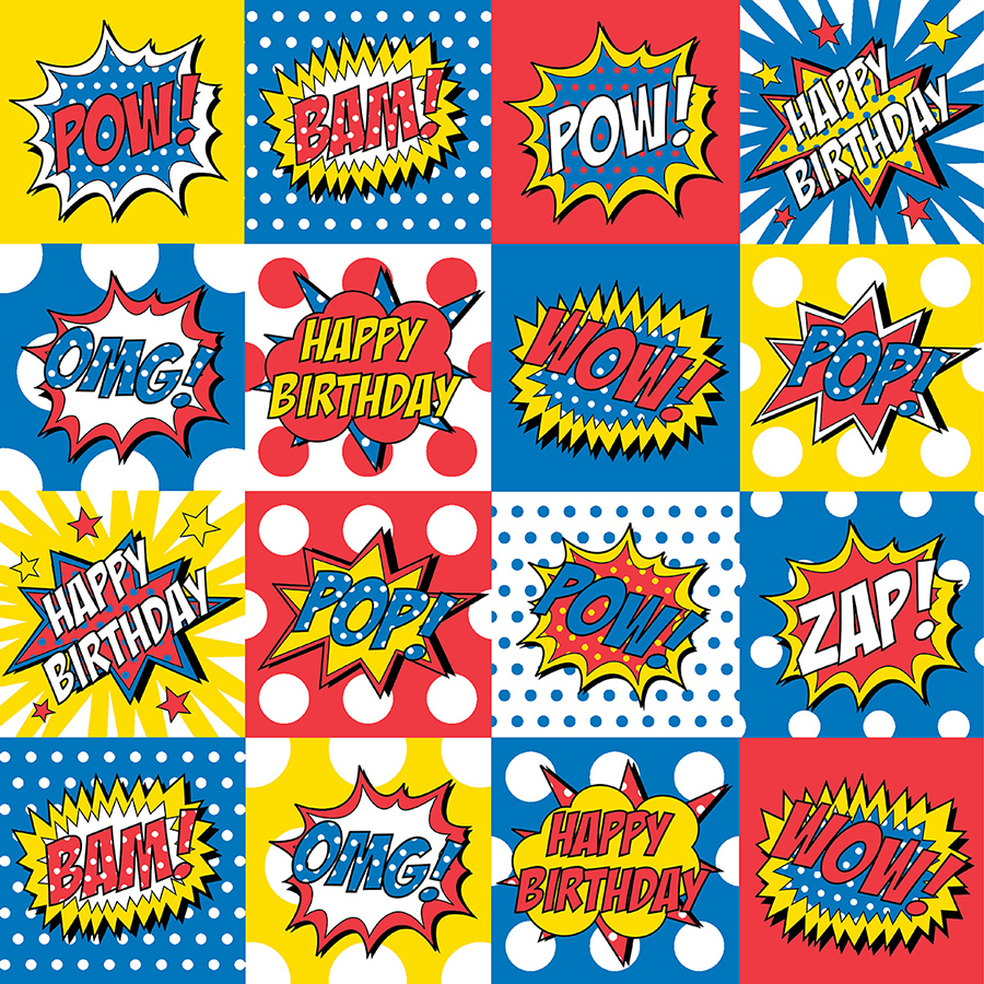 superhero wrapping paper Wrapping paper: buy wrapping paper from the works we offer huge savings of up to 80% on a great range of wrapping paper.